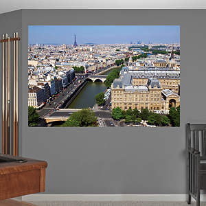 Paris Skyline By Day Mural Fathead Wall Decal